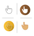 attention hand gesture icon vector image