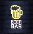 beer bar neon lights vector image