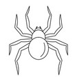 black widow spider icon outline style vector image vector image