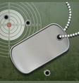blank metal tags on a chain id military soldier vector image