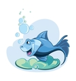 blue fish vector image