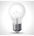 Bulb Isolated on Grey Gradient Background vector image