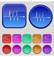 Cardiogram monitoring sign icon Heart beats symbol vector image
