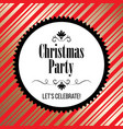 christmas party invitation with ornaments vector image vector image