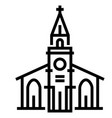 church line vector image