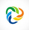 circular color social media logo vector image vector image