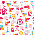 circus theme seamless pattern background vector image vector image