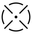 close radar icon simple style vector image vector image