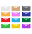 Colorful Set of Close Envelope Icons vector image vector image