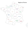 Contour France map vector image vector image