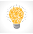Creative light-bulb of male and female vector image vector image
