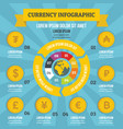 currency infographic concept flat style vector image vector image