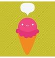 cute cartoon ice cream character vector image