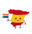 cute funny smiling happy spain map vector image vector image