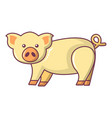cute pig icon cartoon style vector image vector image