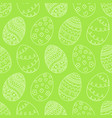 easter eggs on green background easter holiday vector image vector image