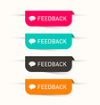 Feedback Paper Labels - Stickers Set - Web Icons vector image vector image