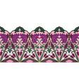 floral ornamental border vector image vector image