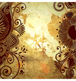 flower design on grunge background vector image vector image