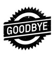 goodbye rubber stamp vector image