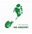 Green Foot Imprint vector image