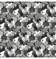 greyscale background with fantastic creatures vector image vector image