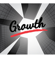 Growth concept with abstract background vector image