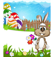 Happy Easter nature background vector image