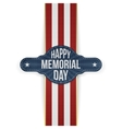 Happy Memorial Day festive Banner and Ribbon vector image vector image
