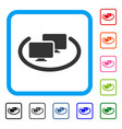intranet computers framed icon vector image