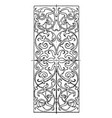 ivory inlay oblong panel was designed by hans vector image vector image