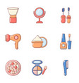 makeover icons set flat style vector image vector image