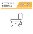 modern toilet line icon vector image