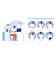 office syndrome work pain infographic symptoms