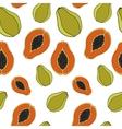 Papaya Seamless pattern vector image vector image