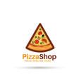 pizza house logo design vector image