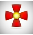 red cross a military medal vector image