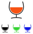 remedy glass flat icon vector image