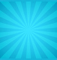 retro blue rays light colorful sunburst and vector image vector image
