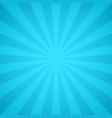 retro blue rays light colorful sunburst vector image