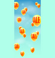 sale hurry up to make purchases yellow balloons vector image