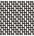 Seamless Black And White Rounded Geometric vector image