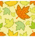 Seamless retro leafs pattern vector image vector image