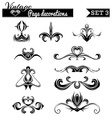 set 3 Vintage page decorations vector image vector image