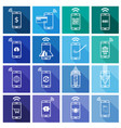set of mobile payment flat design icon vector image