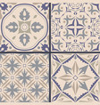 set of ornaments for ceramic tile vector image
