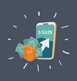 smartphone to make money vector image vector image