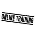 square grunge black online training stamp vector image vector image