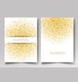 template design invitation gold glitter vector image