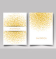 template design of invitation gold glitter vector image